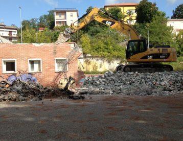 Demolizione PALAZZETTO DEL CONI La Spezia
