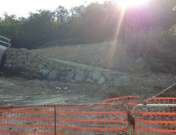 Preparazione area e opere di ingegneria naturalistica per costruzione di un'abitazione privata