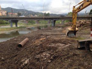 Disboscamento e pulizia tratto Torrente Scrivia pista di accesso alla vasca acquedotto